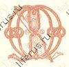 Буква М из алфавита сутажем прикрепление сутажа