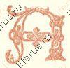 Буква A из алфавита сутажем