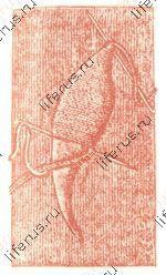 Листик плоскими стежками, вышитый в двойную нитку