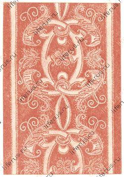 Бордюр из вышивания аппликацией с окаймлением шнурком и орнаментными стежками