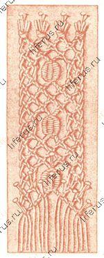 Плетение сеткой с насновкой листиками