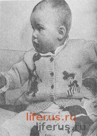 Кофточка с вышивкой для грудного ребенка от 6 до 9 месяцев