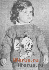 Пуловер с узором «Дональд» для ребенка 3, 4 и 5 лет