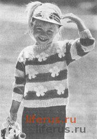 Пуловер с орнаментом для ребенка 6-7 лет