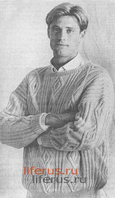вязание мужской пуловер - Выкройки одежды для детей и взрослых.