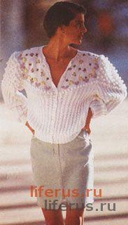 Жакет с узором, имитирующим кокетку размер 38-40