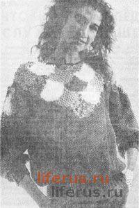 Пуловер с «чешуйками» размер 48-50
