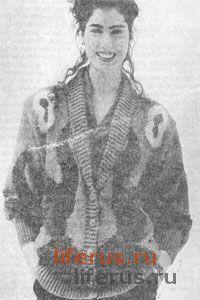 Жакет с шалевым воротником размер 44-46