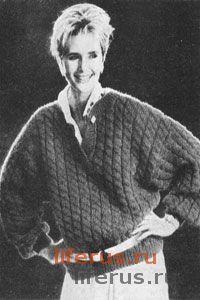 Теплый пуловер размер 44-46