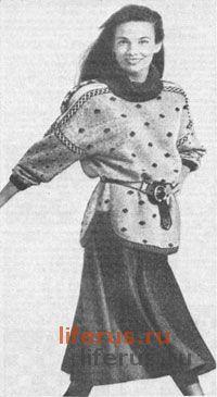 Пуловер с вышивкой размер 46-48