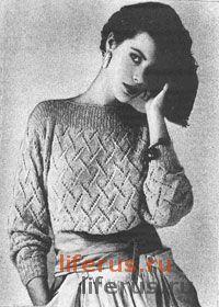 Ажурный пуловер размер 44-46
