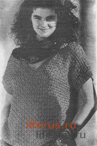 Летний пуловер размеры 42-44 и 48-50