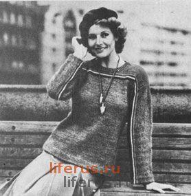 Женский пуловер (размер 48)