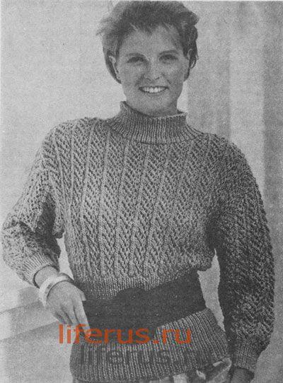 Ажурный пуловер (размер 42-44 и 46-48)